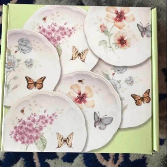 Lenox Butterfly Meadow Party Plates 6 pcs